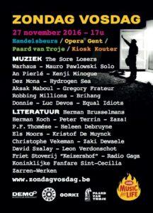 Zondag - Vosdag: nieuw festival rond literatuur en muziek in Gent @ Verschillende locaties